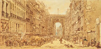 The Faubourg and the Porte Saint-Denis by Thomas Girtin
