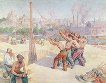 Workers on the Quai de la Seine at Billancourt by Maximilien Luce