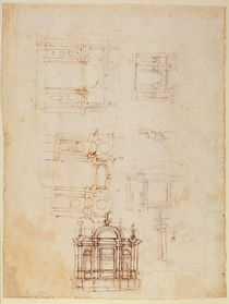 Studies for architectural composition in the form of a triumphal arch von Michelangelo Buonarroti