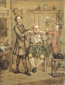 The Barber, c.1760-69 by Marcellus the Younger Laroon