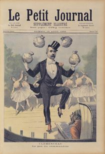 Georges Clemenceau juggling bags of English money by Henri Meyer