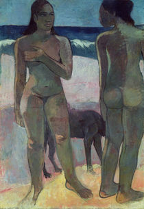 Two Tahitian Women on the Beach von Paul Gauguin