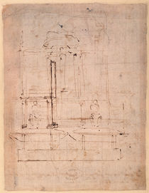 Design for the tomb of Pope Julius II von Michelangelo Buonarroti