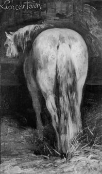 Uncertain, the Horse in the Stable by Theodore Gericault