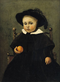 The Painter Adolphe Desbrochers as a Child by Jean Baptiste Camille Corot