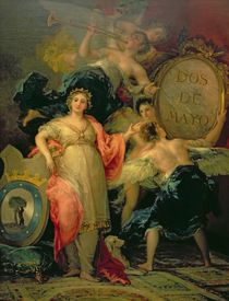 Allegory of the City of Madrid von Francisco Jose de Goya y Lucientes