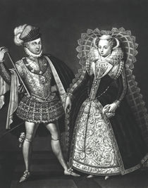 Portrait of Mary Queen of Scots and Henry Stewart by English School