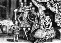 Henri IV King of France with his Family and his Councillors by French School