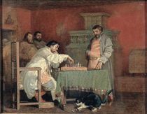 Scene from the Life of the Russian Tsar: Playing Chess by Viatcheslav Grigorievitch Schwarz