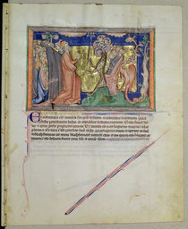 Ms L.A. 139-Lisboa fol.35 The people worshipping the beast and the dragon von English School