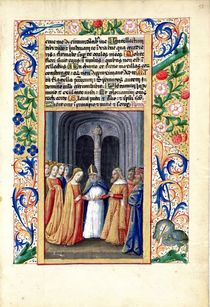 Ms Lat. Q.v.I.126 f.55 The marriage of Michal to David by Jean Colombe
