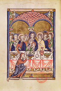 Ms 1273 fol.12v The Last Supper by French School