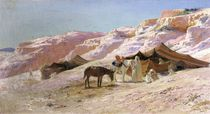 Bedouin Camp in the Dunes by Eugene Alexis Girardet