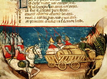 The Army of Charlemagne and the Transportation of Provisions by Italian School
