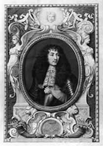 Medallion Portrait of Louis XIV von Nicolas Robert