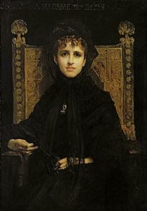Portrait of Madame Georges Bizet 1878 von Jules Elie Delaunay