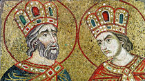Constantine the Great and St. Helena von Veneto-Byzantine School