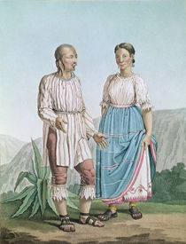 Costumes of the Indians of Michouacan von Pierre Antoine Marchais