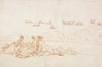 A Picnic: Two Ladies and a Gentleman von Hubert Francois Gravelot