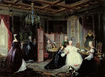 Empress Catherine the Great receiving a letter von Jan Ostoja Mioduszewski