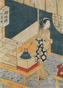 Servant Making Tea von Suzuki Harunobu