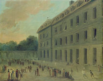 Recreation at the Saint-Lazare Prison by Hubert Robert