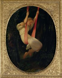 Young Girl on a Swing, 1845 von Hippolyte Delaroche