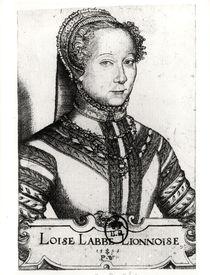 Louise Labe La Belle Cordiere von Pierre Woeiriot de Bouzey