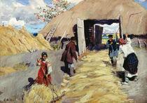 Threshing Floor, 1916 von Sergei Arsenevich Vinogradov