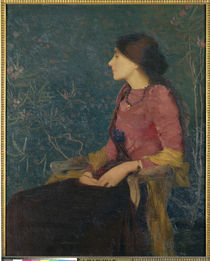 Seated Portrait of Thadee-Caroline Jacquet by Edmond-Francois Aman-Jean