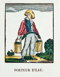 The Water Carrier, plate 220 from 'Les Petits Metiers' von French School