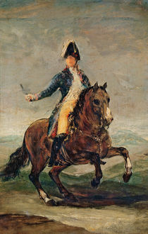Equestrian Portrait of Ferdinand VII King of Spain by Francisco Jose de Goya y Lucientes