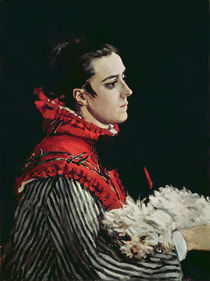 Camille Monet in a Red Cape by Claude Monet