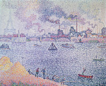 The Seine, Grenelle, 1899 by Paul Signac