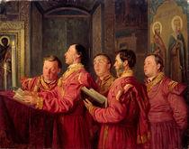 Choristers in the Church, 1870 by Vladimir Egorovic Makovsky