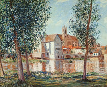 The Loing at Moret, September Morning von Alfred Sisley