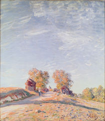 Uphill Road in Sunshine, 1891 by Alfred Sisley