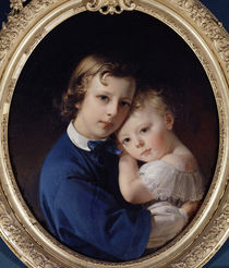 Paul and Rene Dubufe, c.1852 by Claude-Marie Dubufe