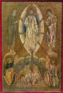 Portable icon depicting the transfiguration by Byzantine