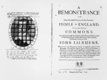 A remonstrance by the Levellers to the House of Commons regarding the imprisonment of their leader John Lilburne published 1646 by English School
