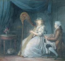 The Beautiful Harpist by Jean Baptiste Mallet