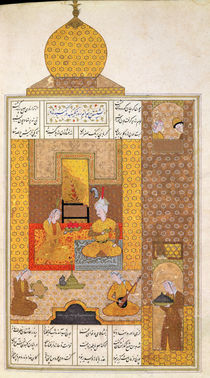 Ms D-212 fol.205b Bahram Visits the Princess of Turkestan by Persian School
