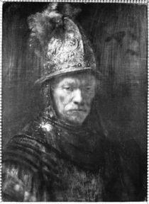 Portrait of a Man with a Golden Helmet by Rembrandt Harmenszoon van Rijn