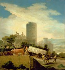 Transporting a Stone Block von Francisco Jose de Goya y Lucientes