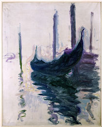 Gondolas in Venice, 1908 by Claude Monet