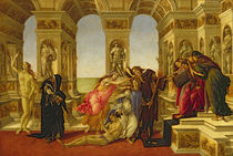 Calumny of Apelles, 1497-98 von Sandro Botticelli