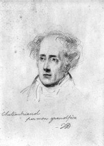 Portrait of Francois Rene Vicomte de Chateaubriand von Emile Jean Horace Vernet