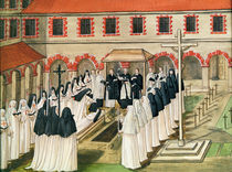 The Burial of a Nun, from 'l'Abbaye de Port-Royal' by Louise Madelaine Cochin