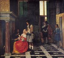 The Card Players, c.1663-65 by Pieter de Hooch