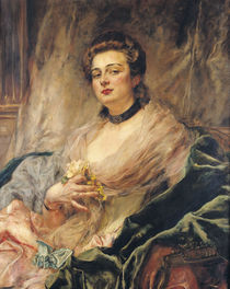 Portrait of the Artist's Wife by Eduardo-Leon Garrido